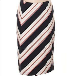 Ann Taylor Stripe Pencil Skirt